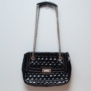 NINE WEST | QUILTED PATENT LEATHER BAG WITH SILVER